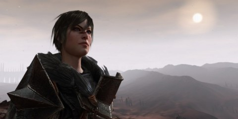That is Hawke as a badass female mage.