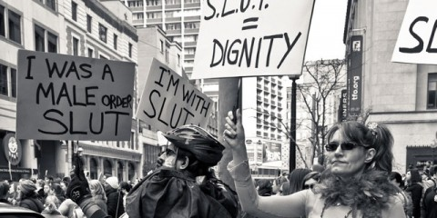 Participants at SlutWalk Toronto earlier this year.