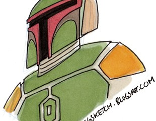 Jason Ho's cool take on Boba Fett.