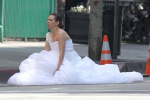 In she's taking a dump in the street or has she just learned Wiig may not be back for a sequel?