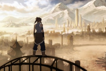 In the Legend of Korra the Avatar has some ridiculously enviable shoulders.