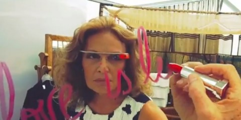 DVF Fashion Week Google Glasses