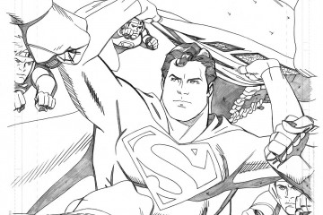 Artist Chris Sprouse's pencils for Superman #683.