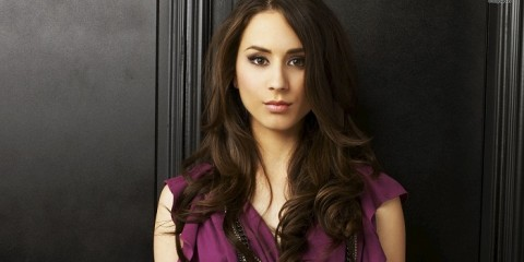 Troian-Bellisario-in-Front-of-The-Door-HD-Wallpaper