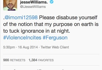 Jesse Williams has no time for ignorance.