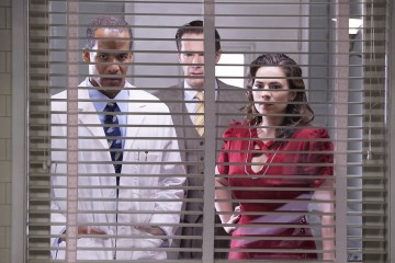 Agent Peggy Carter, Doctor Jason Wilkes, and Edwin Jarvis.